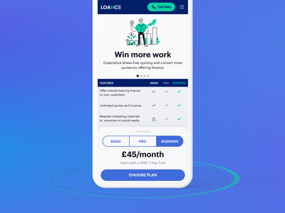 Pricing Plans - Mobile sliders toggle switch ui finance app explore concept design features payment drawer mobile ui mobile design marketing site pricing plans pricing