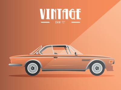 Vintage Cars -  BMW 72 vector illustrator adobe illustrator illustration car cars vintage