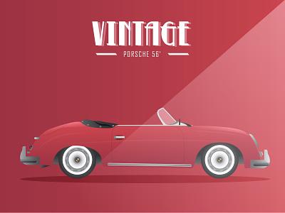 Vintage Cars - Porsche 56 vintage cars car illustration vector illustrator adobe illustrator