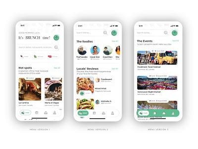 Food App - Tab Bar tab bar menu foodie food user interface design user experience user interface apple app app design uxdesign uidesign ux ui