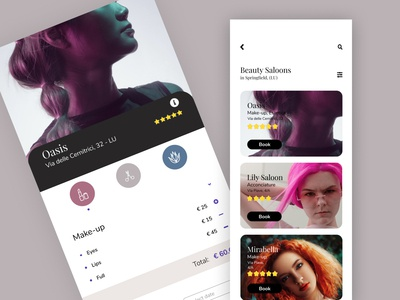 Booking for Beauty Saloons Figma Link flatdesign bottle design typography minimal presentation branding illustration element design desktop app uiux ui