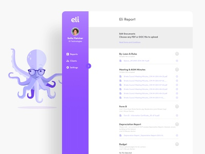 Eli • AI-Powered Platform for Real Estate infographic ux design ui design data visualization artificial intelligence
