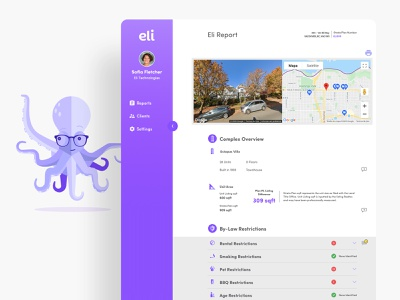 Eli • AI-Powered Platform for Real Estate infographic ux design ui design artificial intelligence data visualization