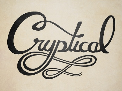 Cryptical typography texture web cryptical art blog logo tyson reeder omaha the new blk hand drawn vector