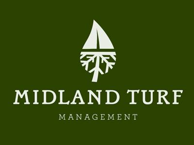 Midland Turf Management midland omaha nebraska lawn management tyson reeder typography vector the new blk snow removal