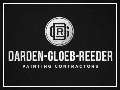 DGR dgr painting contractor texture typography logo branding paint monogram vintage faded classic american omaha design reeder