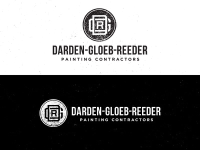 DGR Final Mark handmade stamp logo texture vintage american painting contractors tyson darden gloeb dgr reeder omaha black white branding mark rubber jp cooke nebraska homegrown design designlife