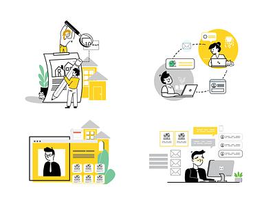 TLC List Illustrations app ui vector branding illustration design