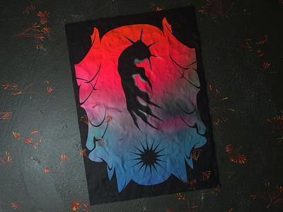 * Take my hand into the darkness * octane c4d demon gradient concrete flowers 3d render flag poster dark acid typogaphy font graphic design