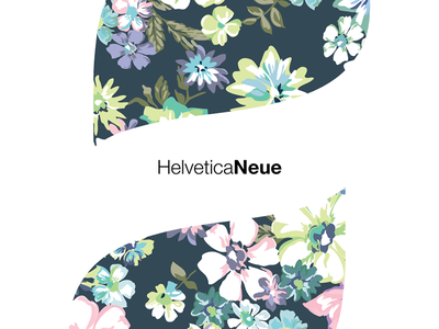 HelveticaNeue letter a abstract flower design graphic typo font helvetica