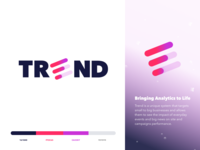 Trend Analytics - Brand Identity Design logo graphic  design visual  identity brand assets color palette art direction company start up logo design brand and identity brand