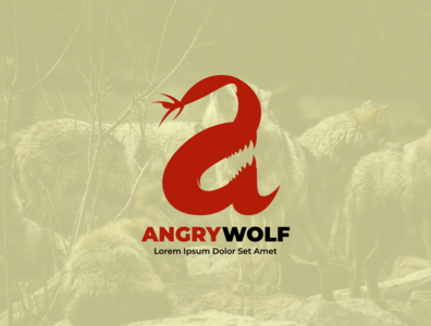 angrywolf with Wolves background