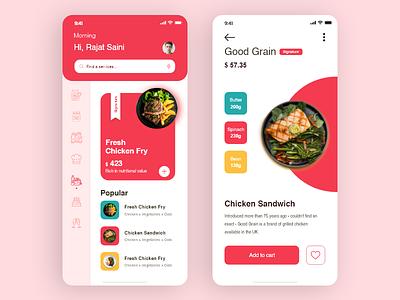 Food App animation creative uidesign ios