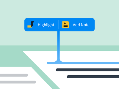 Take a Highlight or Note ux ui app illustration interaction design product design icons