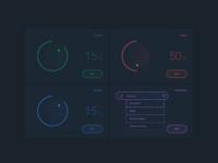 Futuristic IoT amplifier interface