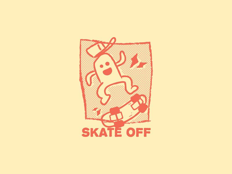 Skate Off skateboard graphics skateboards skating skateboard skate character cartoon character design drawing doodle vector illustraion