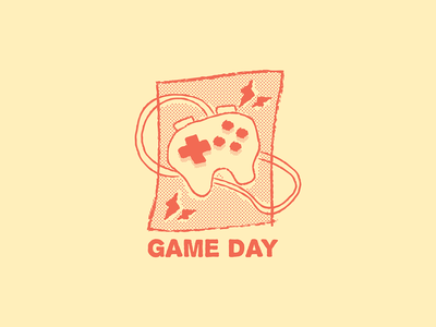 Game Day playstation sony game adventure time badge character design doodle drawing cartoon vector illustration