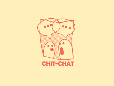 Chit-Chat debate speak chit chat chat badge typography character character design doodle drawing cartoon vector illustration