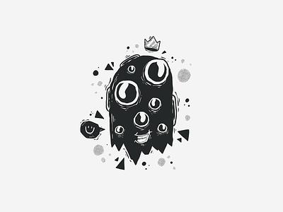 Black & White Character #8 half tones half tone halftones halftone black and white blackandwhite black  white black white black smiley graffiti badge monster character character design doodle drawing cartoon vector illustration