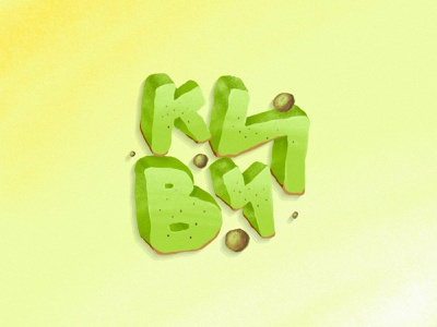 КИВИ = Kiwifruit lettering typogaphy cyrillic cyrilic kiwifruit kiwi procreate app procreate art procreateapp procreate fruit drawing vector illustration