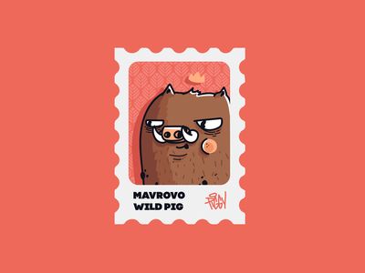 Pig : Mavrovo procreate piggy wild pig mountain animal pig character character design cartoon drawing vector illustration