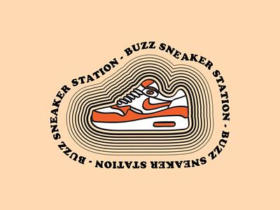 BUZZ Sticker Design #3 nike air max sneaker illustration sneakerhead sneakers sneaker nike sticker badge branding typography logo doodle drawing cartoon vector illustration