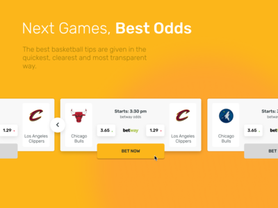Next Games with Odds widget