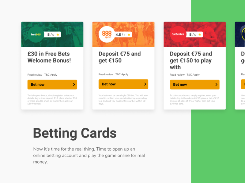 Betting Cards to promote best offers sportbooks betting oferss offers odds design odds sportbetting sport malta brand designer betting desing design betting