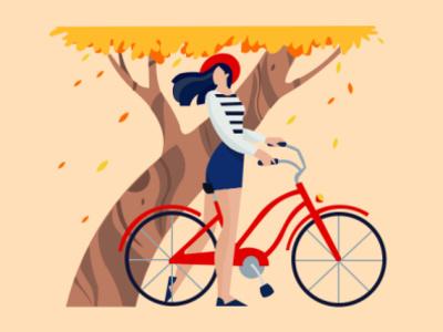 design ilustration girl illustration sweet simple design ui vector illustration design animation graphics design