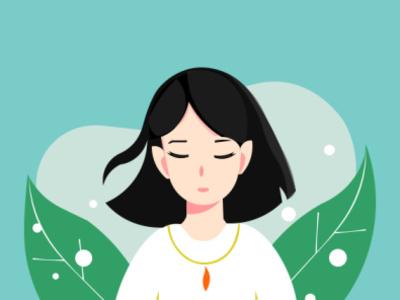girl ilustration simple design girl illustration ui vector illustration design animation graphics design