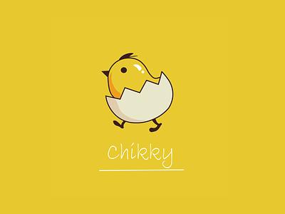 little chikky vector sticker design illustration design graphics design