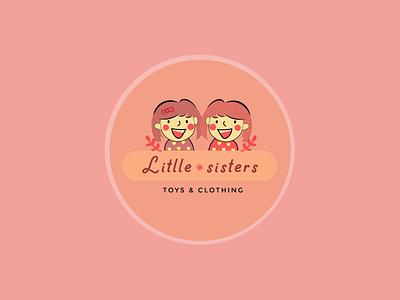 little sister logo icon branding sticker design illustration simple design graphics design design
