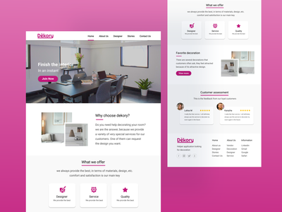 Dekory web design designinpiration website design webdesign web graphics design branding ui design
