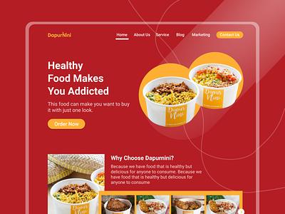 DapurNini Web Design designspiration design webdesign website uidesign uiux ux ui