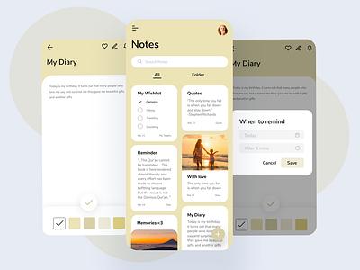 Mobile Notes App graphics design app design notes logo ui illustration ux graphic design