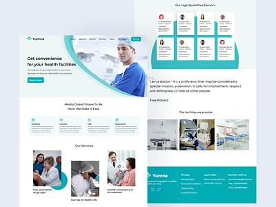 Medical App Landing Page simple design designinspiration landingpage healtyweb designweb webdesign web doctors healty branding ui ux design