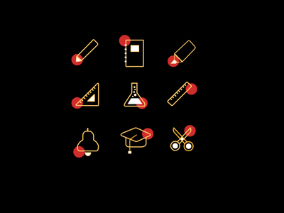 Education set icon vector logo simple design graphics design design branding icon set education graphic design 3d animation