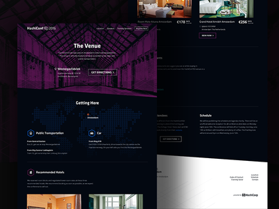 HashiConf EU - Getting Here Page conference infrastructure hashiconf tech landing page