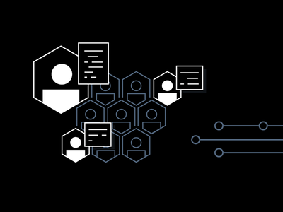 Collaboration graphic brand hashicorp black hexagon team code