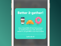 Fave app friend referral pop-up
