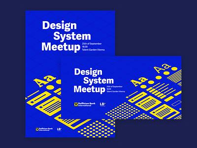 Design System Meetup Identity vienna poster identity meetup designsystem system design colors color