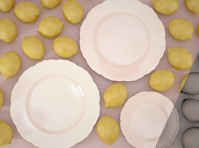 lemons and plates