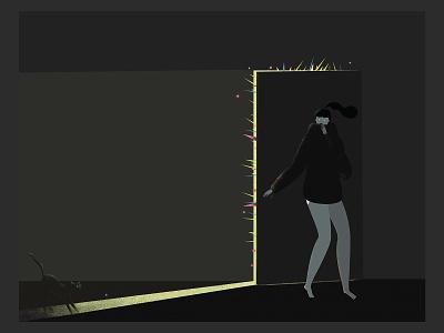noExit vectorart quarantine girl stayhome nopanic mood digitalart 2d art illustraion