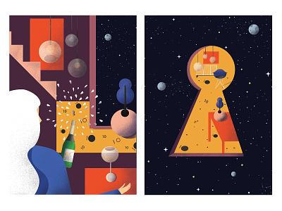 Decoroom celebration vector celebration space architect design vectorart illustraion girl art digitalart 2d art