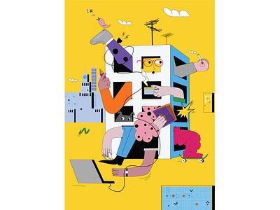 quarantine :) procreate worsaw print poster besave pandemic 2d art illustration colourful vectorart illustraion