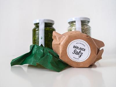 WILD GARLIC SALT & PEPPER packaging food salt pepper cooking organic green eco canning jar