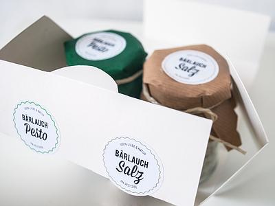 WILD GARLIC SALT & PEPPER / PACKAGING cardboard jute packaging eco organic wild garlic cooking passion natural colours salt pepper