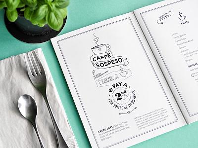 Das Auschlössl lunch breakfast bar café coffee park sun branding menu sticker food editorial