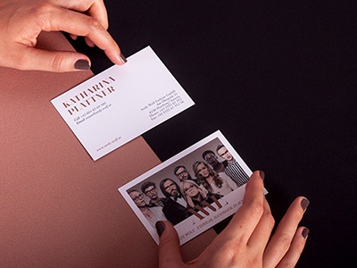 Business Cards | AWE by Andy Wolf Eyewear corporate design business card fashion eyewear austria