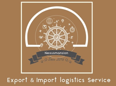 Vintage logo For Export import Company